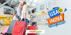 Avail the USA to India flight tickets with Mintfares for your travel budget. We provide offers to keep the travelers happy and tension free about their travel cost. Cheap Flights To India, Travel Tags, Get Ready, Budget Travel, Adventure Travel, Traveling By Yourself, Flight Tickets, Usa, Happy