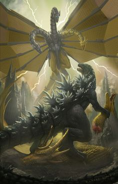 Godzilla vs Mecha King Ghidorah