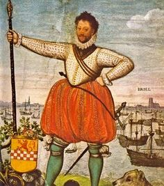 Lumey, een beruchte en wrede geuzenleider. Zijn volledige naam was Willem II van der Marck Lumey.