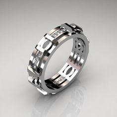 Mens Modern 950 Platinum Diamond Infinity Wedding Band   Etsy Fine Wedding Jewelry, Silver Wedding Bands, Rhinestone Wedding, Diamond Wedding Bands, Unique Jewelry, Wedding Rings, Bridal Rings, Gold Wedding, Gold Jewelry
