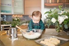 Making a Mess In the Kitchen Baking Christmas Cookies | Best Christmas Traditions For Children | Brittany Gidley Photography LLC