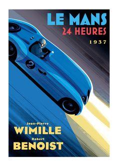 Guy Allen — Wimille / Benoist - Le Mans poster