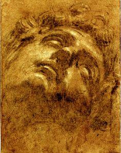 Jacopo Robusti (Tintoretto) - Study of the Head of Giuliano de' Medici, after Michelangelo, 16th century