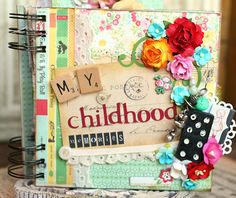 Adorable!  Using Crate Paper'sEmma's Shoppe. Aahh... to be able to buy one of her albums someday...sigh... http://piecesofhomedesigns.blogspot.com/