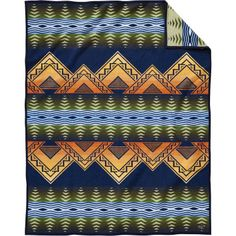Buy American Treasures Midnight wool blanket made by Pendleton Woolen Mills. Made in the USA to celebrate the anniversary of the National Park Service
