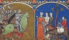 Manuscript:Maciejowski Bible (search) (external link)  Folio:33  Location:Paris, France  Dating:1244 - 1254  Institution:Morgan Library
