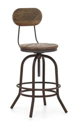 Industrial Counter Stool (with Back)