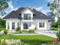 Projekt domu Dom w hibiskusie - ARCHON+ House Plans Mansion, My House Plans, Minimalist House Design, Modern House Design, Home Building Design, Building A House, Bungalow Style House, Casas Country, Beautiful House Plans