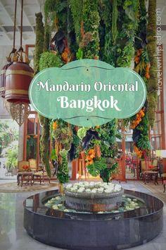 Minha estadia num dos melhores hotéis do mundo, o Mandarin Oriental Bangkok. Quer ver como foi?