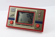 "80sRetro Masudaya LCD Game Watch ""Play & Time"" Under Construction Made in Japan #Masudaya"
