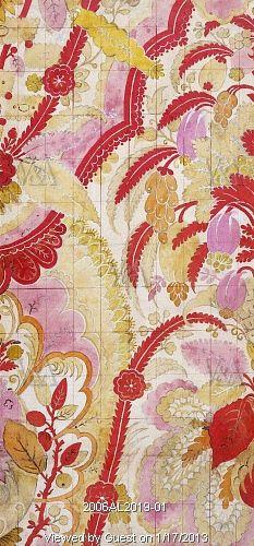 Textile design, by Joseph Dandridge. Spitalfields, London, England, 1720
