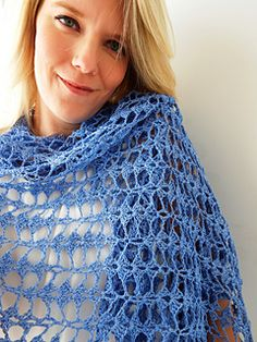 For all its elegance, Waverly is made using just three crochet stitches—double crochet, chain, and slip stitches—and shaping takes care of itself. Alternating shell panels move like leaf fronds playing in the wind to create pretty lace paneling in a rectangular wrap. Changing the yarn completely changes the look of this design and makes this an enjoyable project to crochet and wear all year round.