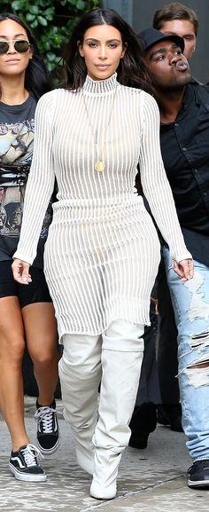#Celebrity #StreetStyle #NYFW Kim Kardashian West in Yeezy