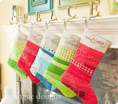 christmas stockings - This is exactly what Matt wants.  Looks like I really need to learn how to sew!!!