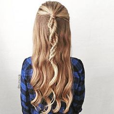 #coiffure #cheveux longs - Tresse ADN