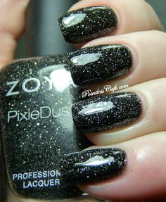 Zoya Dahlia (shown smoothed over with top coat), from the Pixie Dust Collection, 2013.