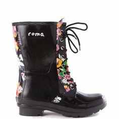 OPINCA Black Women's Rain Boots