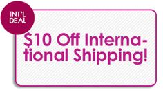 Get $10 international shipping when making an order over $75!  Use code: 29International One Coupon Per Order. Cannot Combine with other coupon. Minimum amount: $75