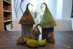woah, awesome. if i could knit this!  fairy castles for storing hooks and needles by TinyOwlsMagicAttic, $5.50