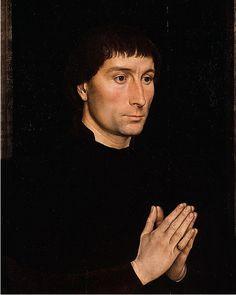 Hans Memling 1430 - 1494) - Portrait of Tommaso di Folco Portinari.