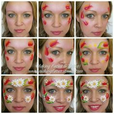 Tulips and daisies SBS face painting Cameron Garrett, Making Faces Tutus, www.makingfaces.vpweb.com
