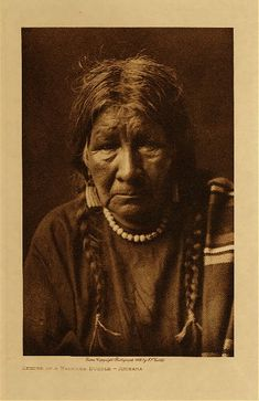 Keeper of a medicine bundle - Arikara,1908. Edward Sheriff Curtis Photography.