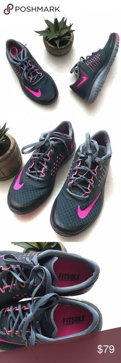 NIKE FS Lite Run 2 Running Sneakers Shoe Pink Gray NIKE FS Lite Run 2 Running Sneakers Shoe Pink Gray size 7. Brand new without box. She's a little weight and pick up the pace when you Lace into the light and swift FS Lite Run from Nike. Nike Shoes Sneakers