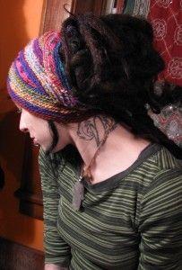 wool and silk crocheted dread wrap hair band