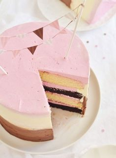 We love this neopolitan ice cream cake. Get the recipe here!: http://www.mywedding.com/articles/ice-cream-wedding-cake-other-frozen-treats/
