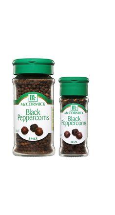 Black Peppercorns Spices, Herbs, Jar, Black, Spice, Black People, Jars, All Black, Herb