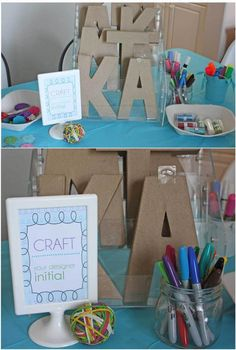 perfect for Kadyn's 7th birthday party - a craft girl thru and thru!!