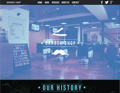 """Check out new work on my @Behance portfolio: """"Barber Website Template"""" http://on.be.net/1V9pERV"""