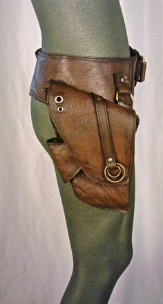 Military Surplus Ammo Storage Rugged Vintage Leather Belt Double Pouch Great for LARP Cosplay /& Steampunk Style Utility Belt.
