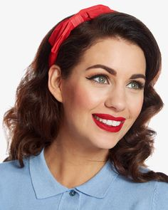 Red Bow Headband | Vintage Inspired Fashion | Lindy Bop