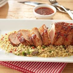 This sweet chili pork tenderloin is a crowd pleaser!