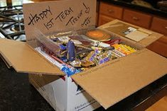 Make and Take Gals Table Notes: College Care Packages Arriving Today!