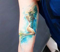 Mermaid tattoo by Adam Kremer