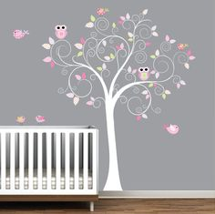 Vinyl Wall Decal Tree with Polka dot by Modernwalls on Etsy, $99.00