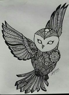 Mandala owl drawing  #artist #pretty #mandala #draw #colours #art #tattoo #ideas #artbyshayna #sketch #owl #owldrawing