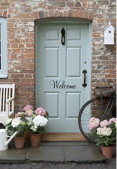 Welcome Decal  Door