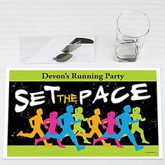 Set The Pace - Running - Personalized Track, Cross Country or Marathon Placemats