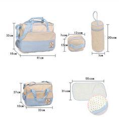 7 colori dot design borse per pannolini baby bag pannolino 5pc/set maternità borsa a tracolla per la madre in da su Aliexpress.com