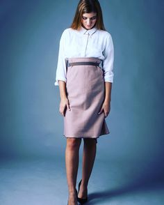 How about a new madamekukla look? Check out the cosiest pencil skirt ever Insta Look, Studio Shoot, Office Outfits, High Waisted Skirt, Pencil, Blouse, Business, Check, Skirts