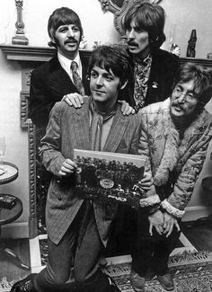 The Beatles promoting Sgt. Pepper