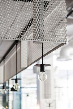 Usine is a minimalist restaurant interior located in Stockholm, Sweden, designed by Designer Richard Lindvall. Bistro Design, Cafe Design, Interior Design, Interior Paint, Kitchen Interior, Cafe Industrial, Industrial Interiors, Industrial Furniture, Industrial Restaurant Design