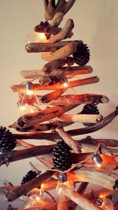 Sapin de Noël en bois flotté par l'Atelier de Corinne   Noël et ...