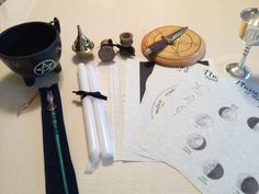 There are 8 tools that are considered essential for Wiccan, Witchcraft, Ritual & Magic. They are the wand, athame, pentacle, censer (incense burner), cauldron, chalice and Book of Shadows. This tool s