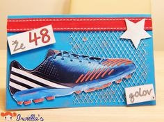 Soccer / Football shoe birthday card -  already 48th goals. Read more : http://iwiellas.com/en/blog/2015/04/23/soccer-card-48th-birthday/