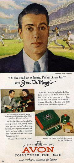 Joe DiMaggio / Avon 1950