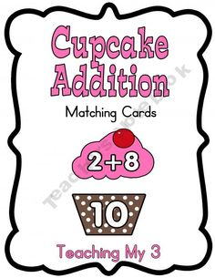 Cupcake Addition Cards
